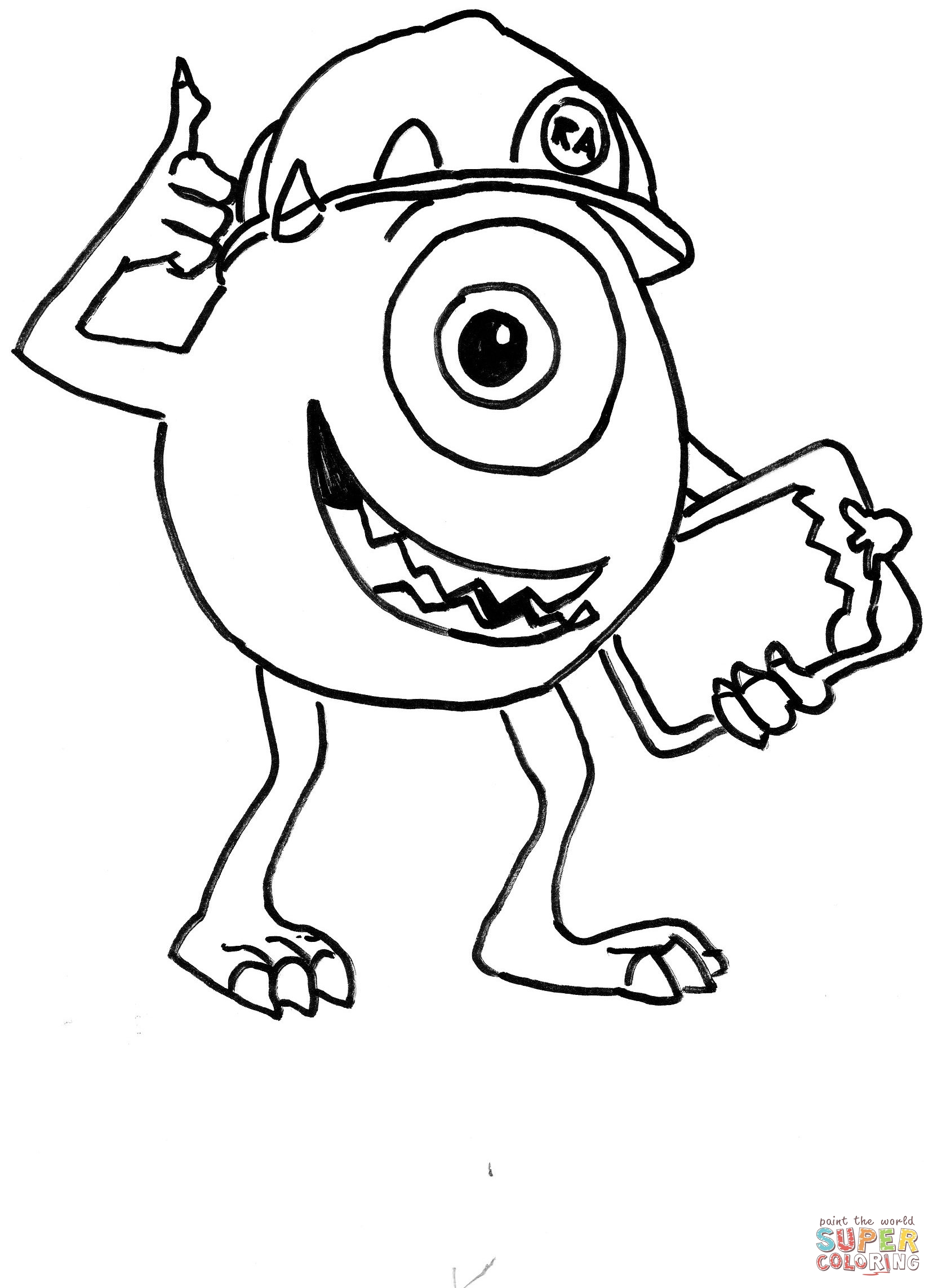 Monster Inc Coloring Pages Free Coloring Pages