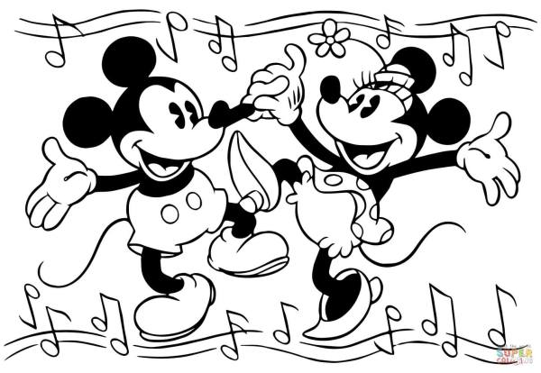 minnie and mickey mouse coloring pages # 11