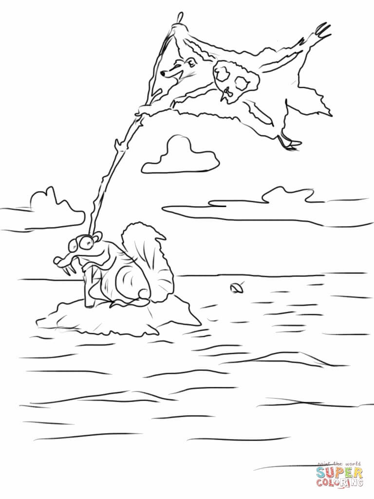 ice age coloring pages free coloring pages