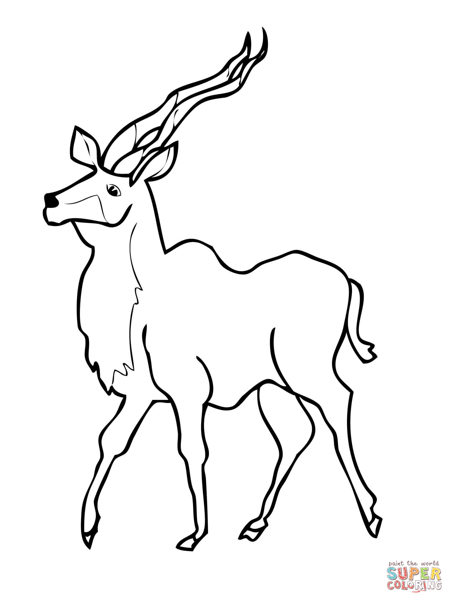 Kudu Coloring Page Free Printable Coloring Pages