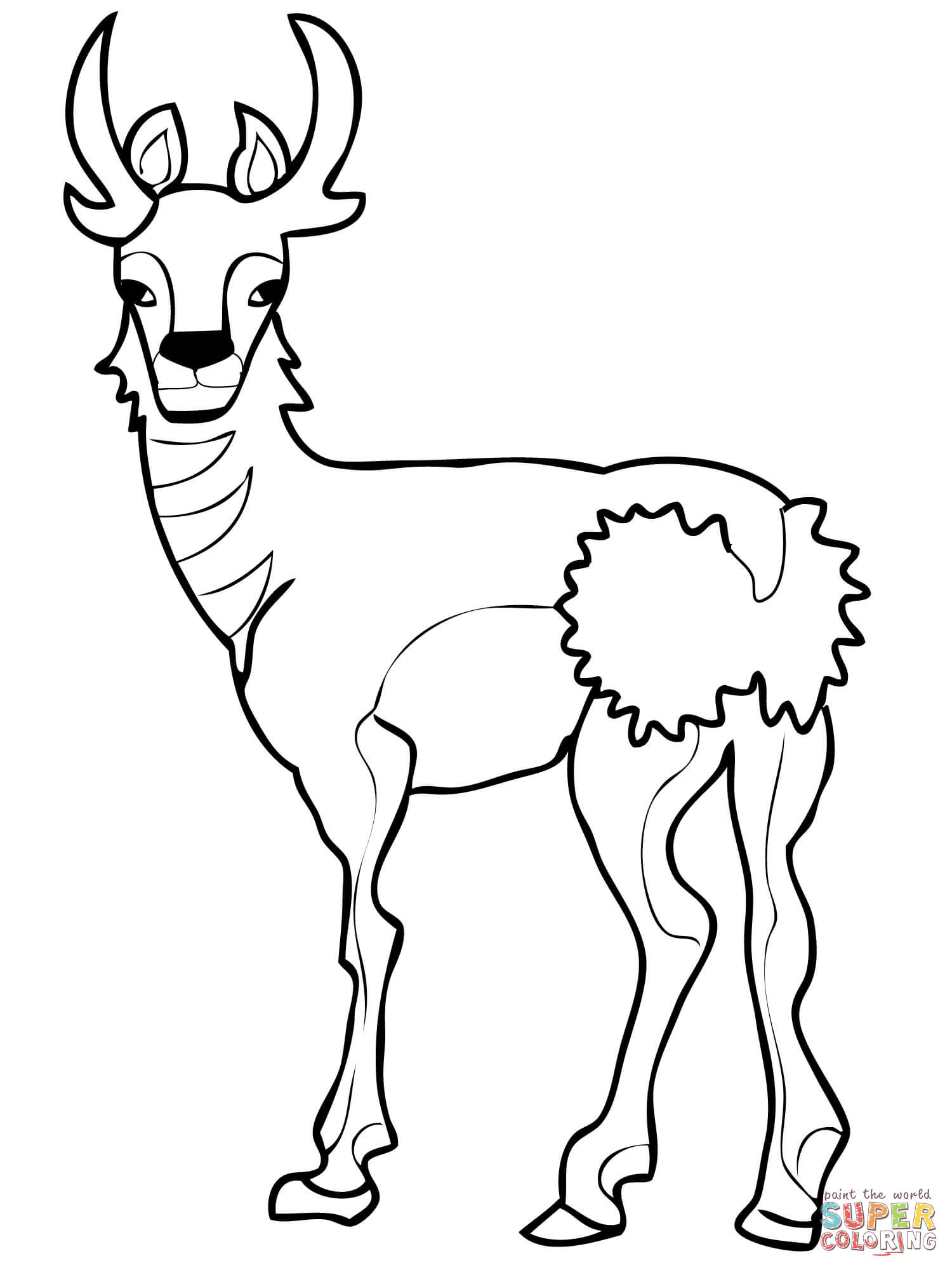 North American Pronghorn Coloring Page