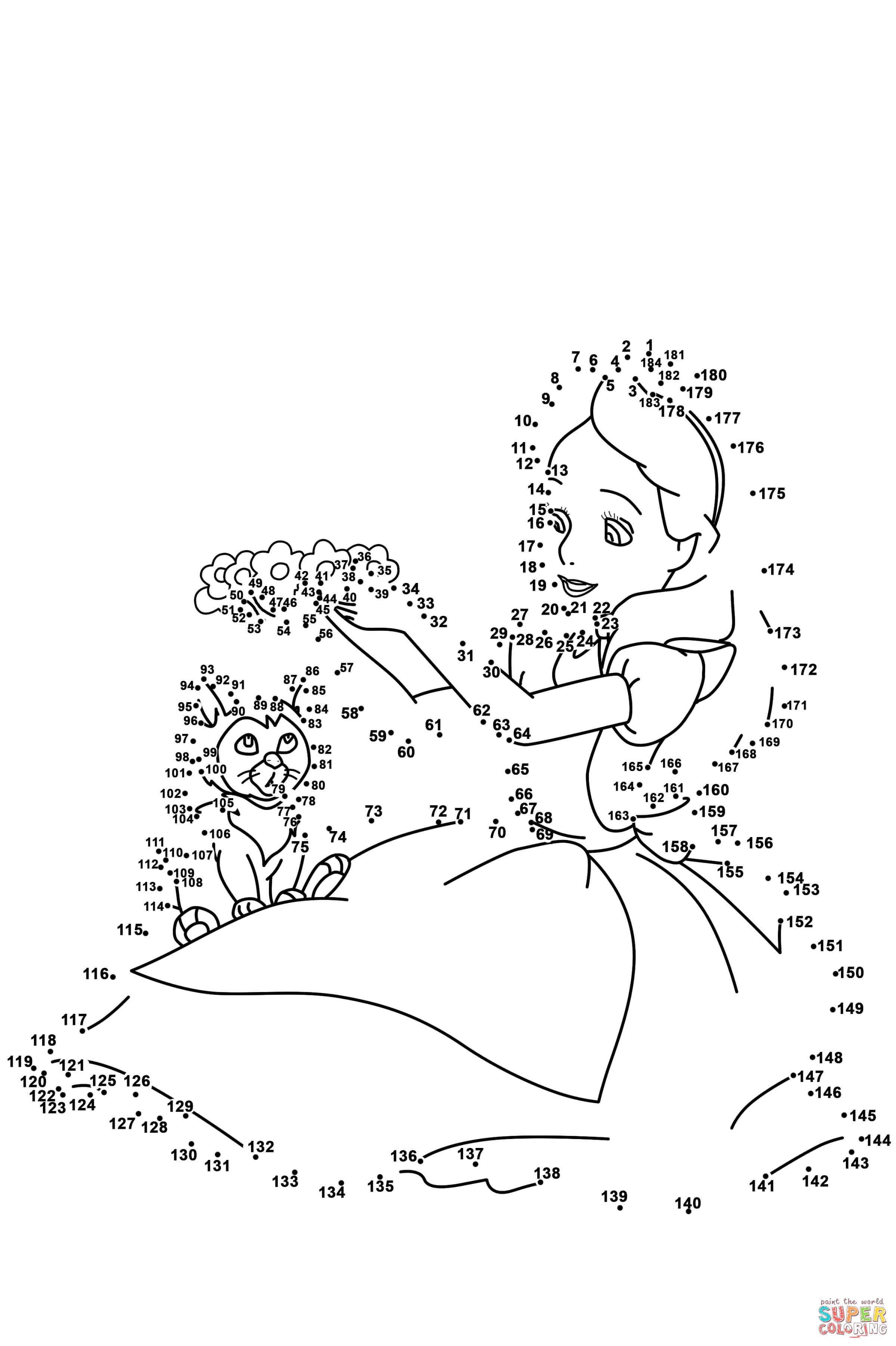 Alice In Wonderland Dot To Dot