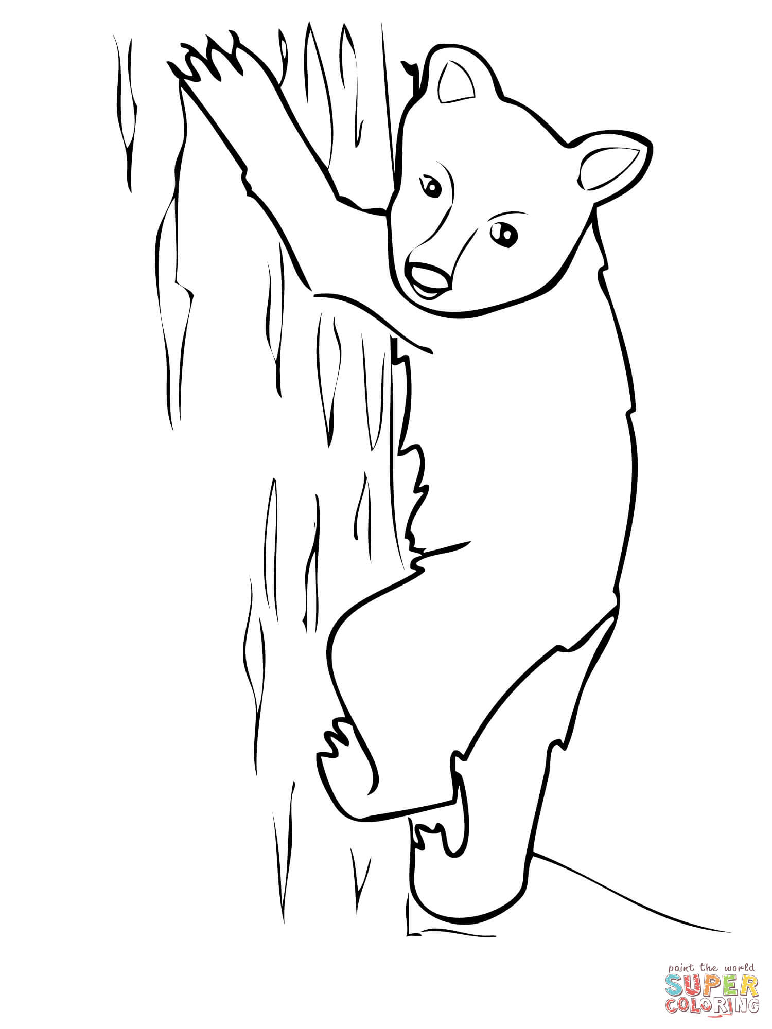 american black bear cub coloring page free printable coloring pages