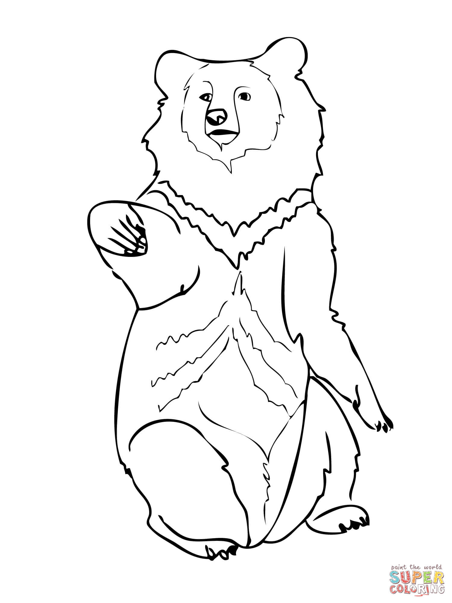 asia black bears coloring pages free coloring pages