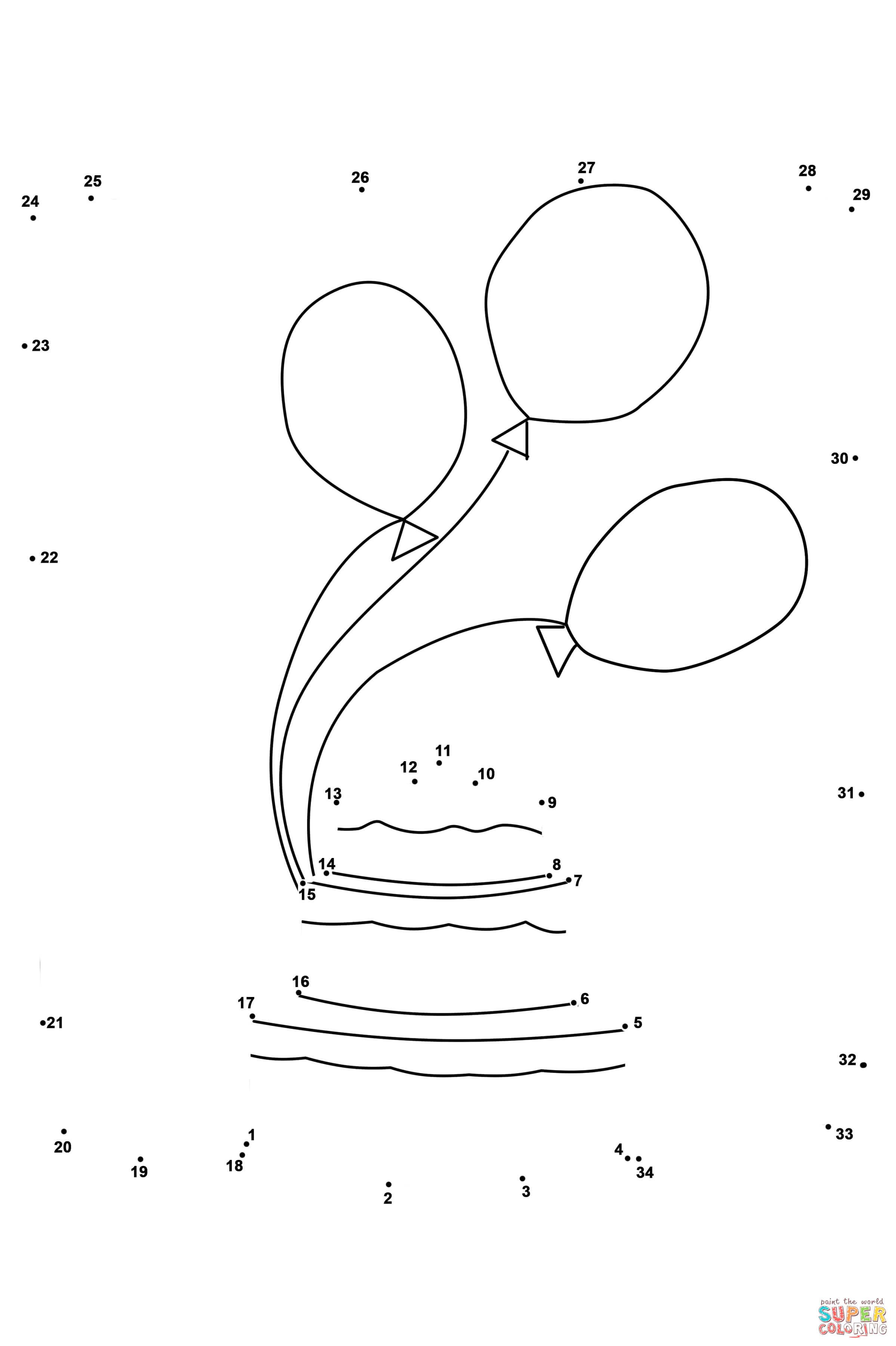 Disegno Di Torta E Palloncini Da Colorare