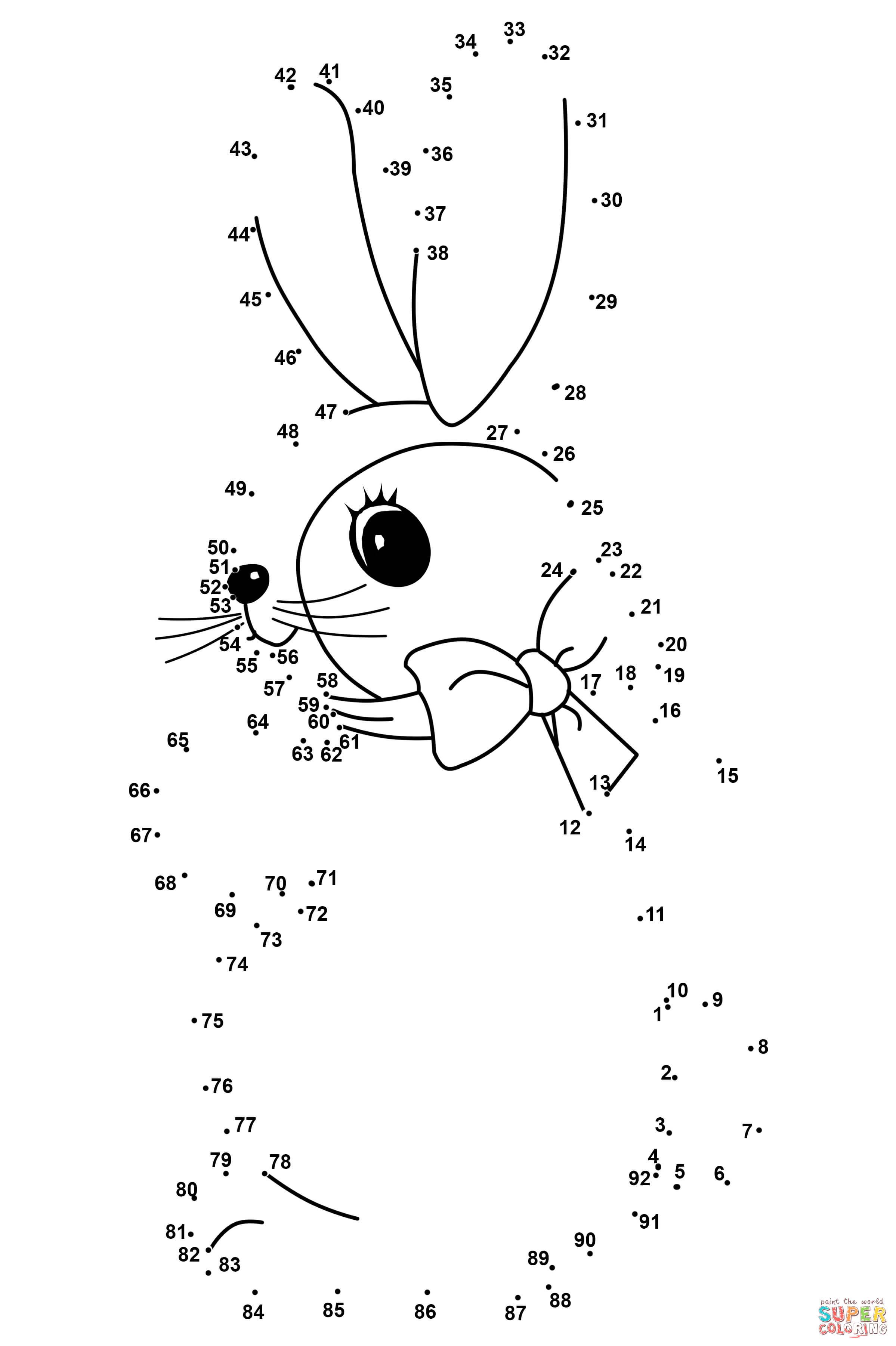 Easter Rabbit Dot To Dot