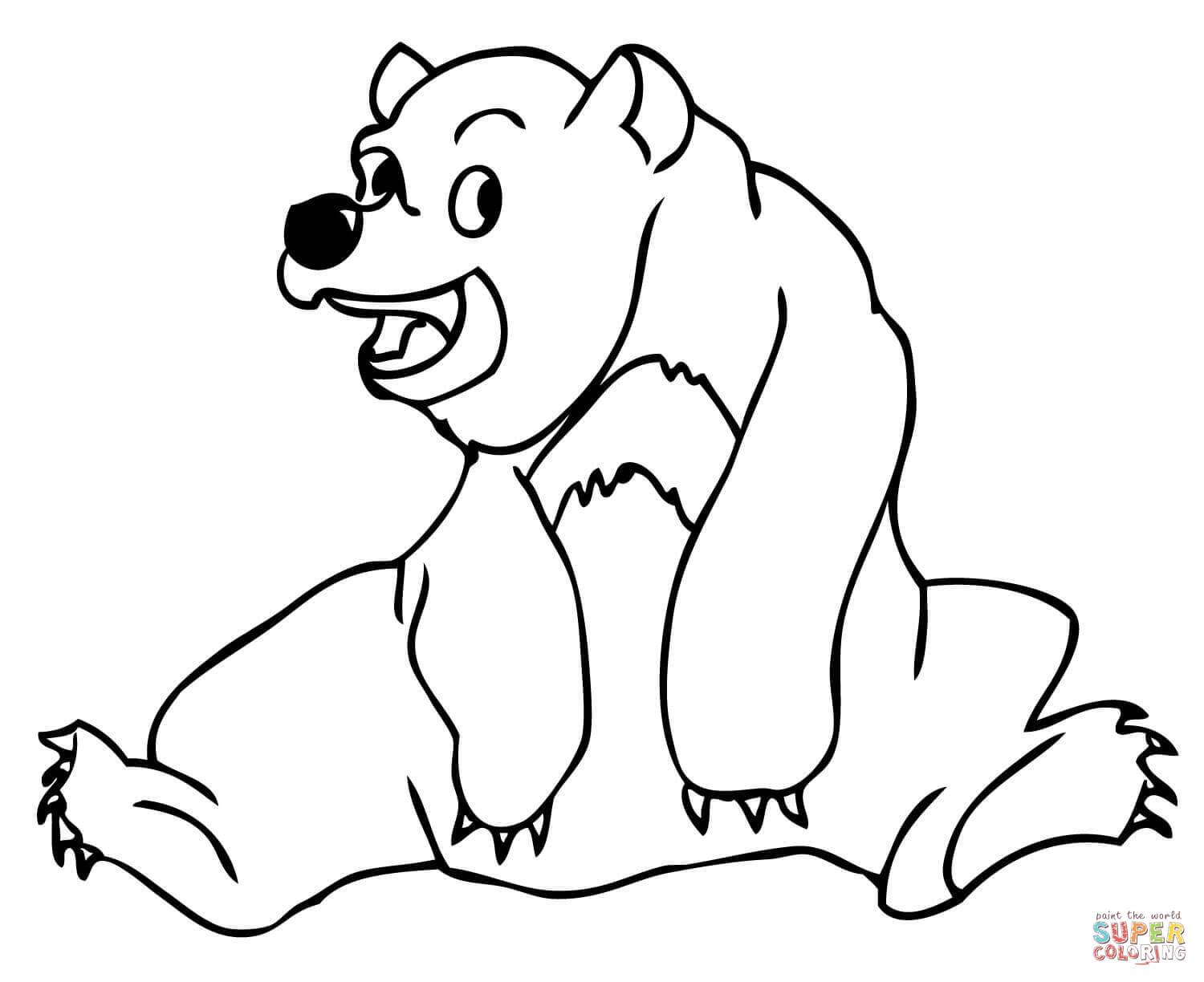 Sun Bear Coloring Page