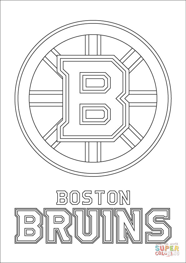 boston bruins logo coloring page free printable coloring pages