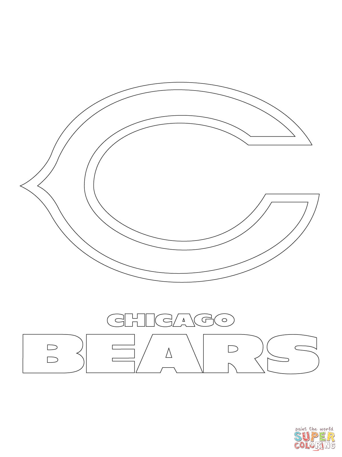Chicago Bears Logo Coloring Page Free Printable Coloring Pages