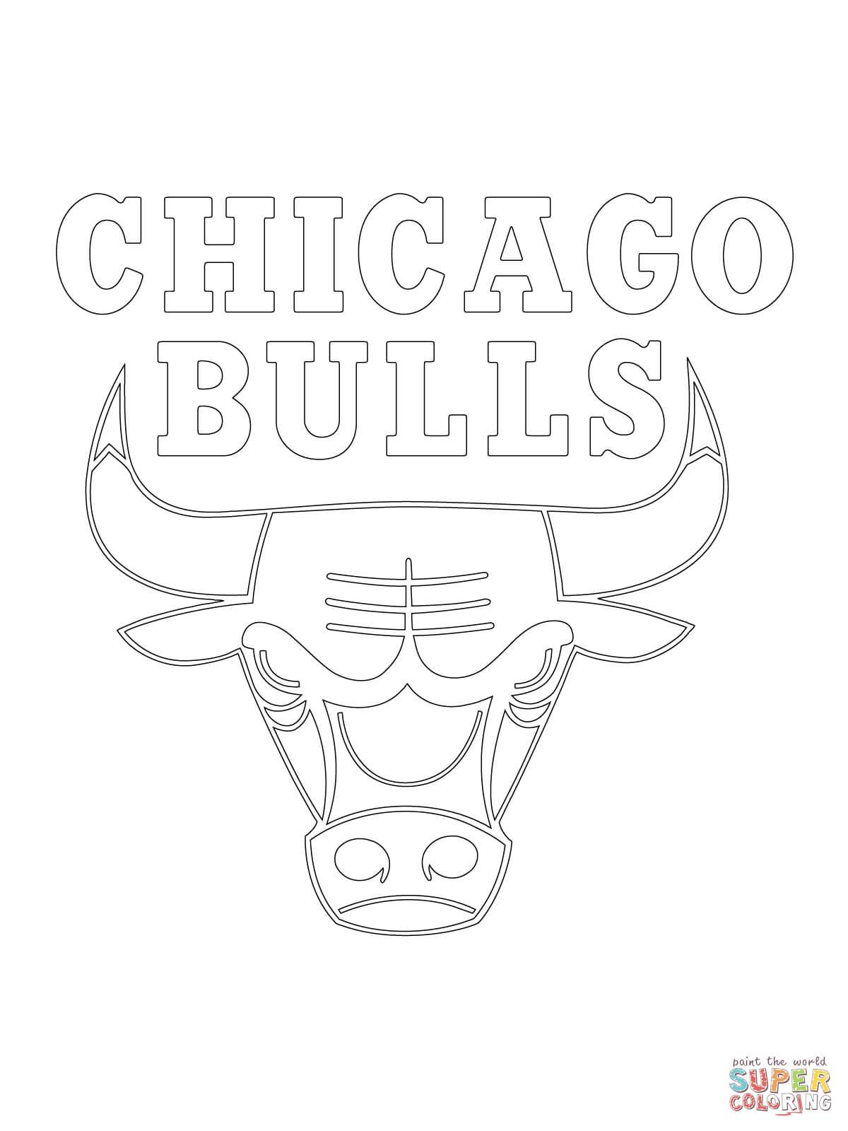 Chicago Bulls Logo Kleurplaat