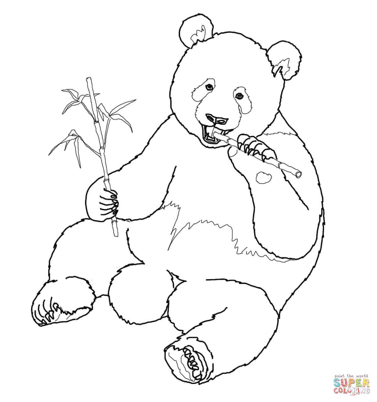 panda eating bamboo coloring pages together with panda bear coloring