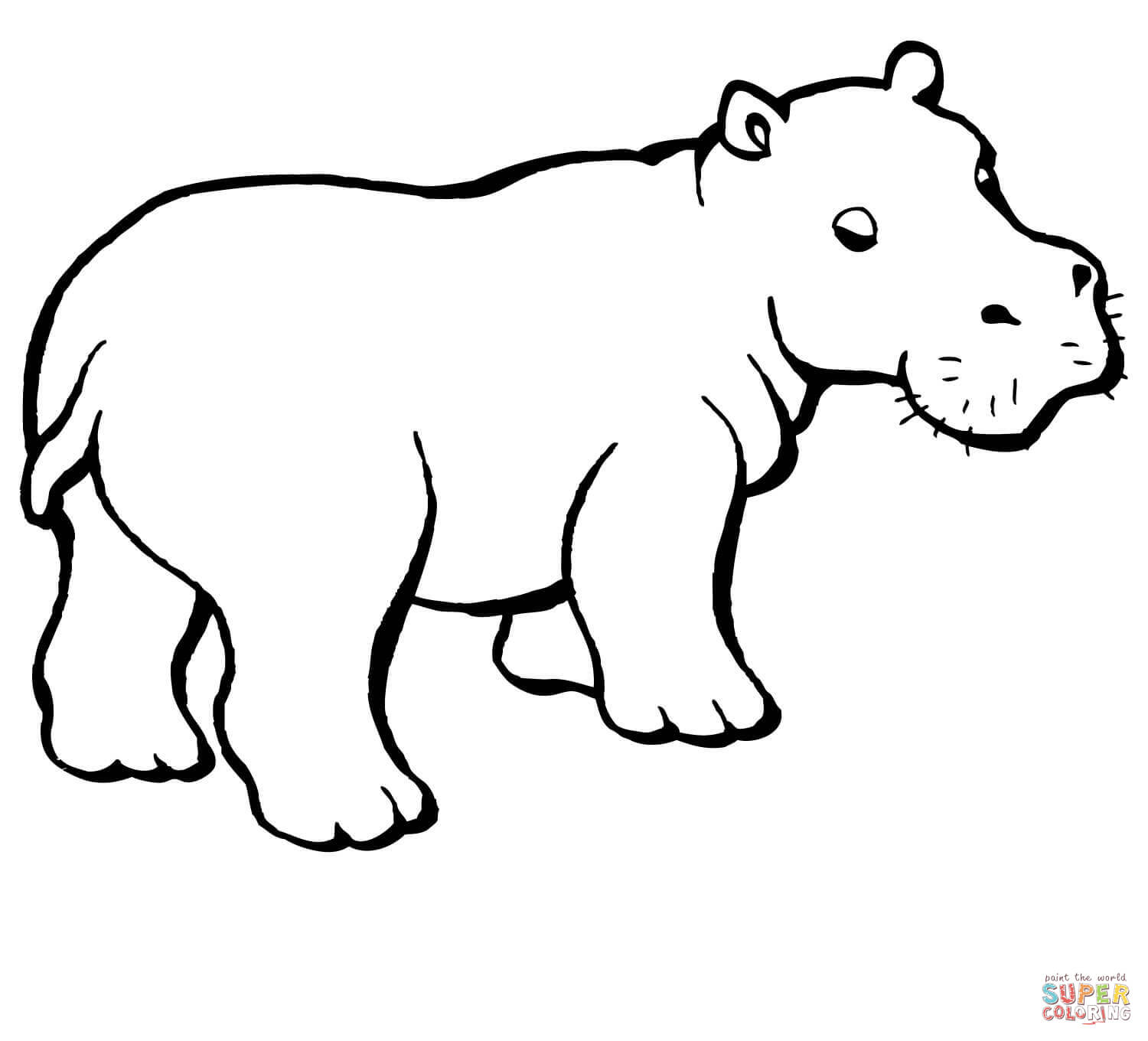hippopotamus coloring pages free coloring pages