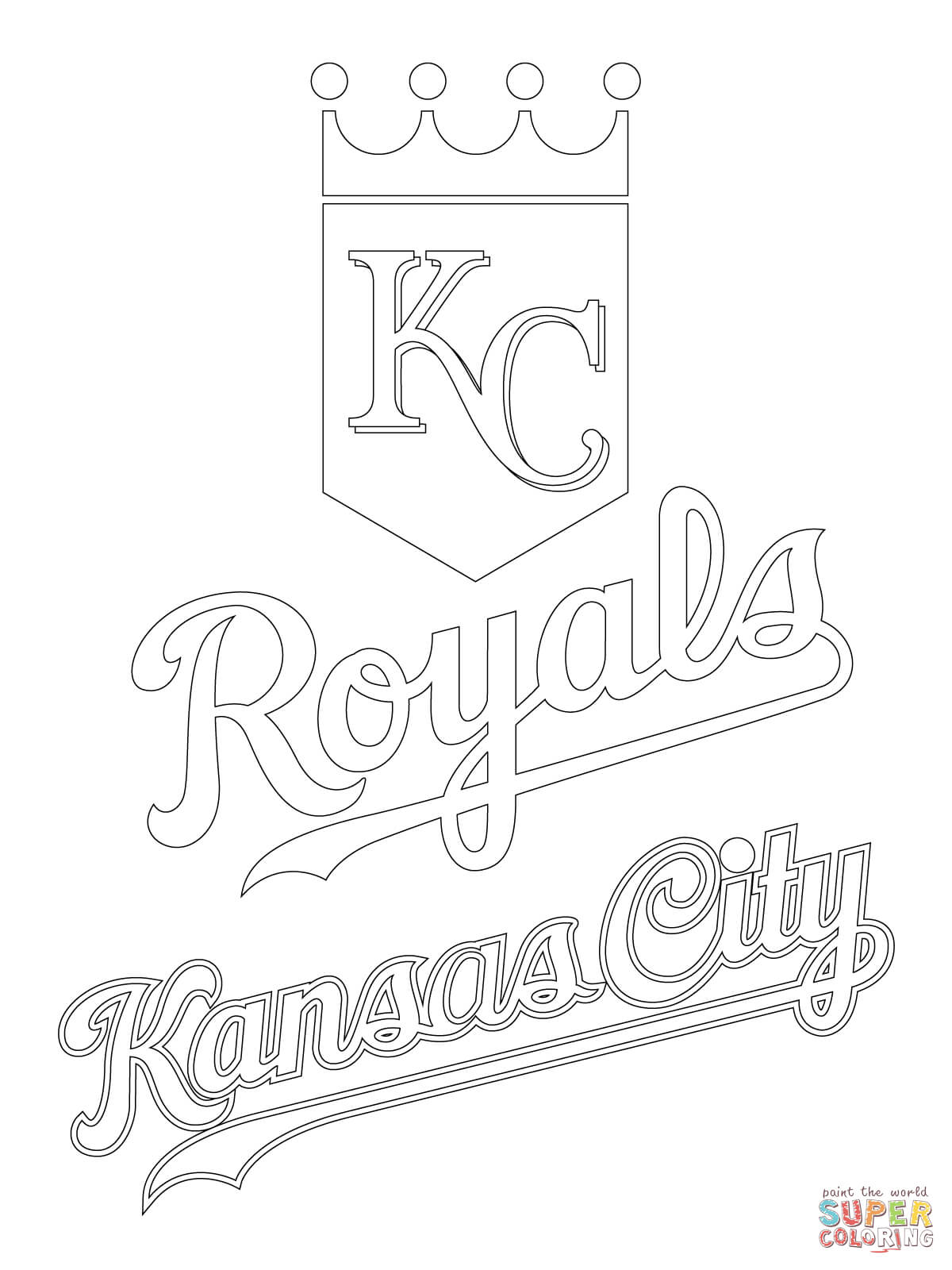 Kansas City Royals Logo Coloring Page