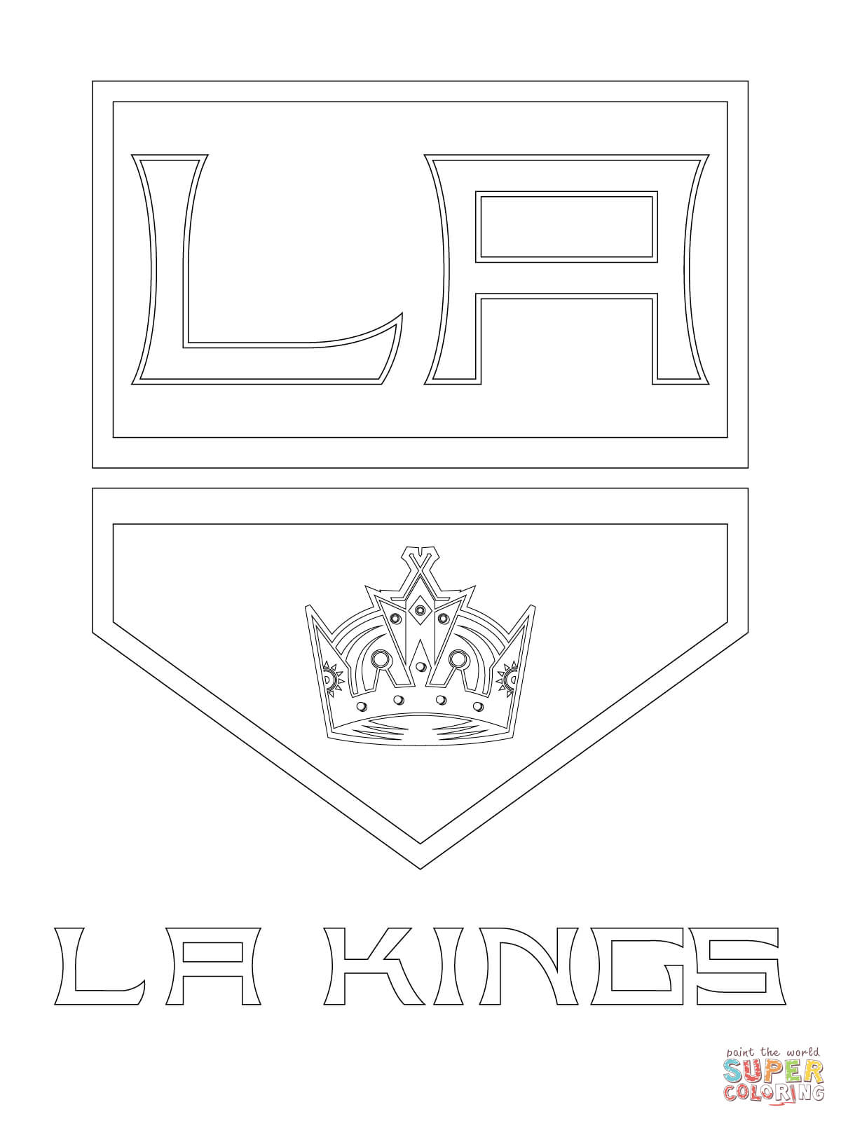 los angeles kings logo coloring page free printable coloring pages