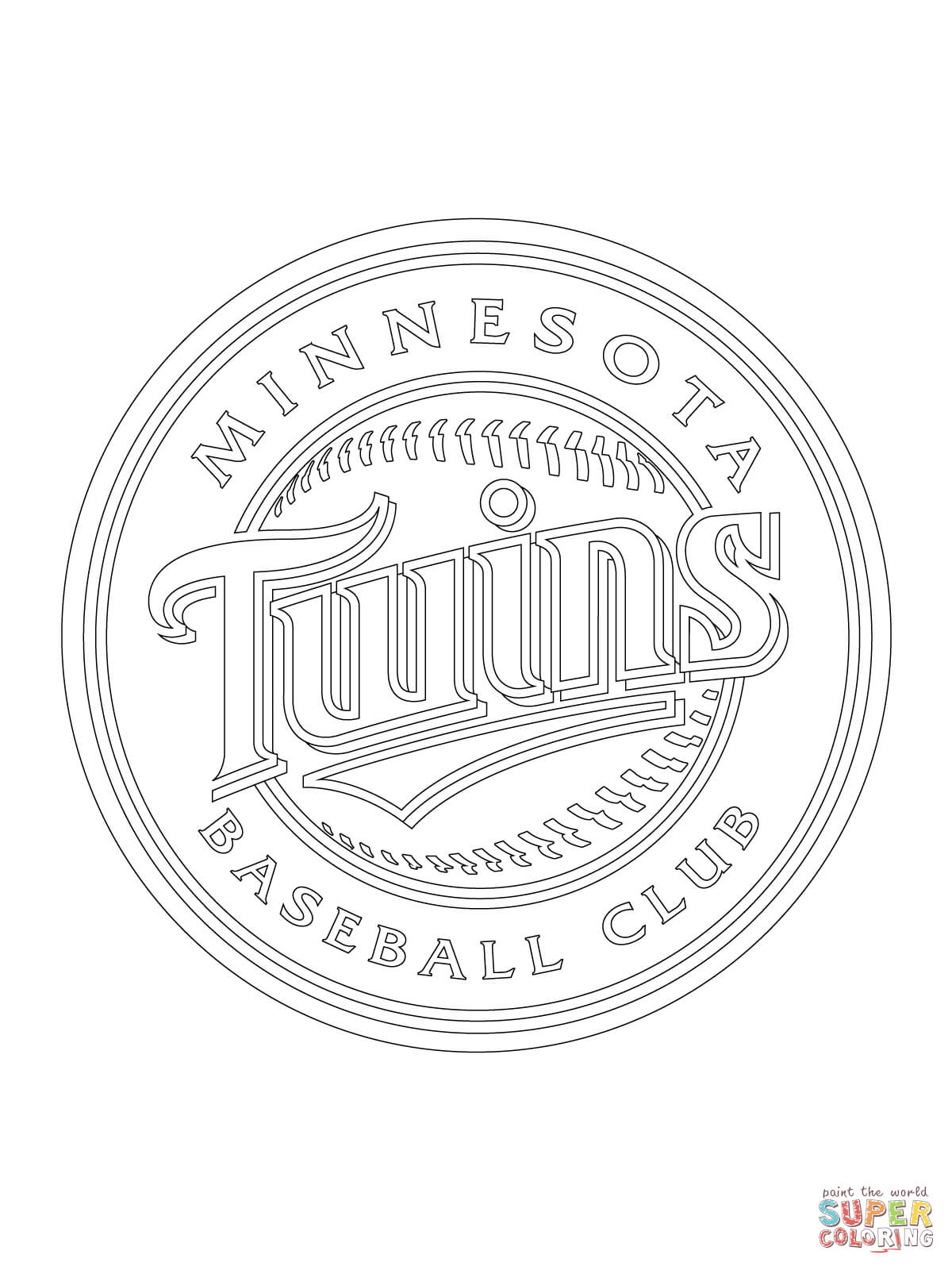 Minnesota Twins Logo Coloring Page