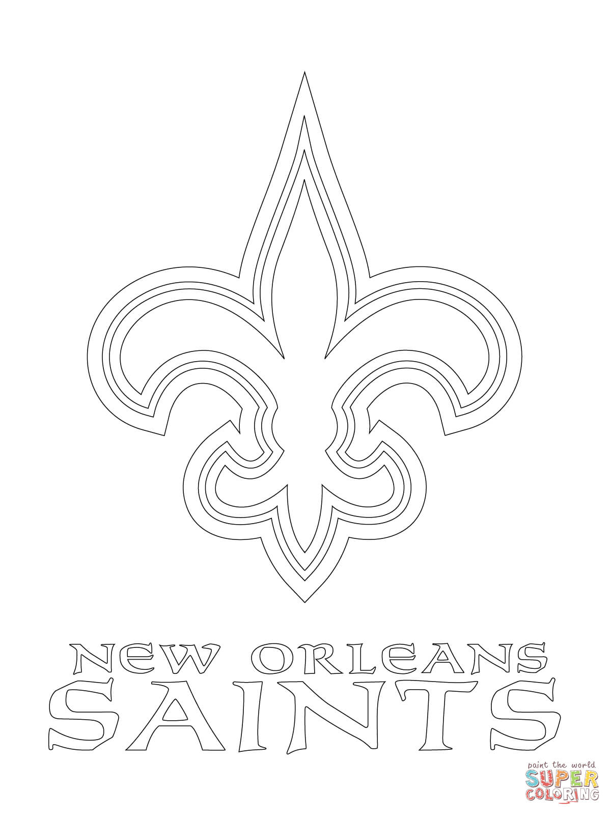 New Orleans Saints Logo Coloring Page