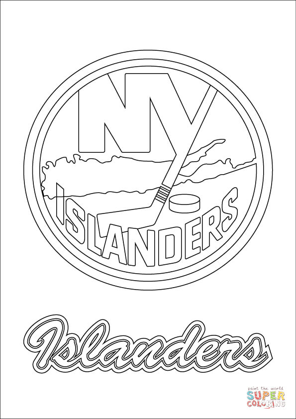 new york islanders logo coloring page free printable coloring pages