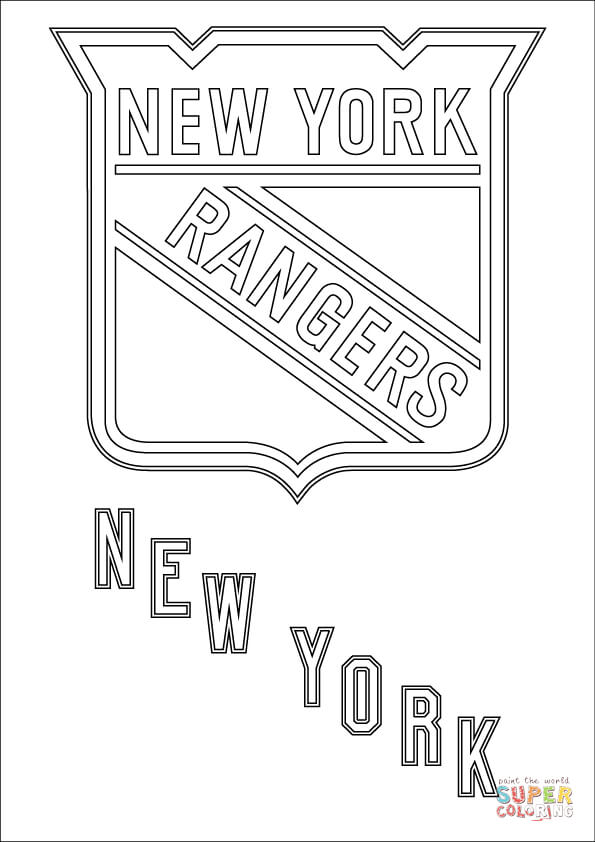 new york rangers logo coloring page free printable coloring pages