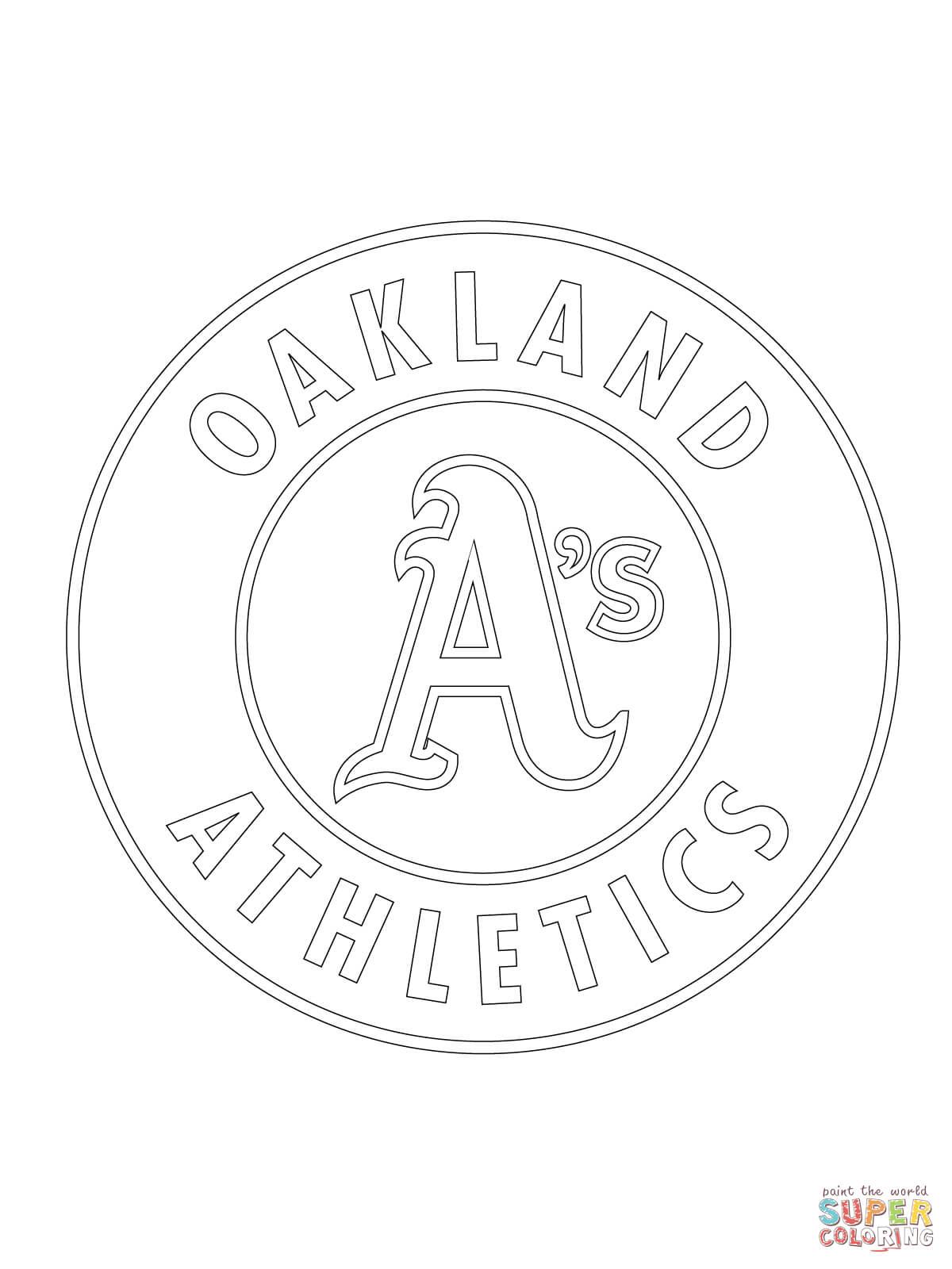 Oakland Athletics Logo Coloring Page