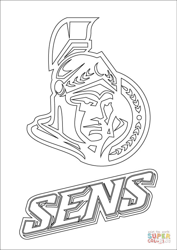 ottawa senators logo coloring page free printable coloring pages