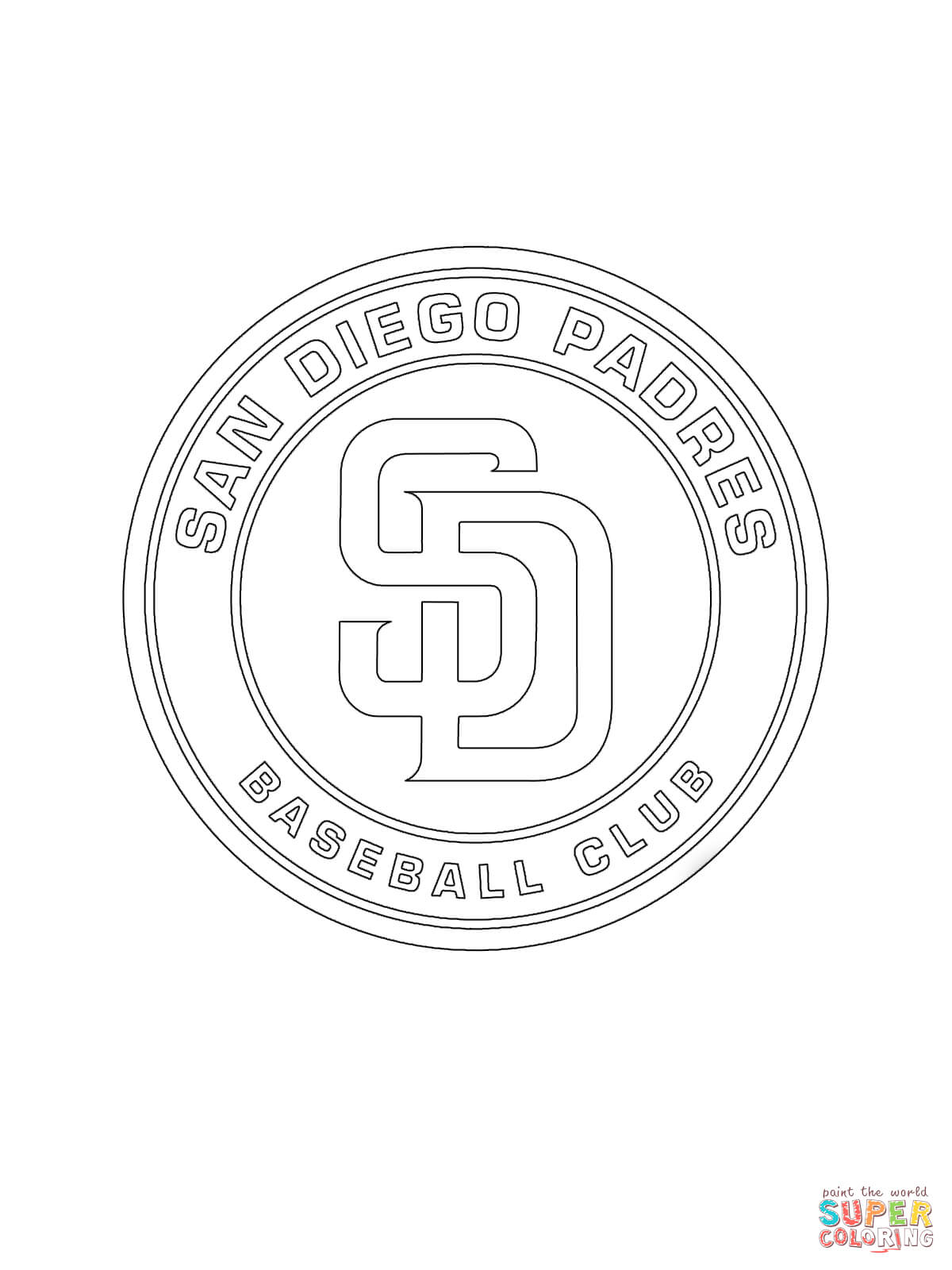 san diego padres logo coloring page free printable coloring pages