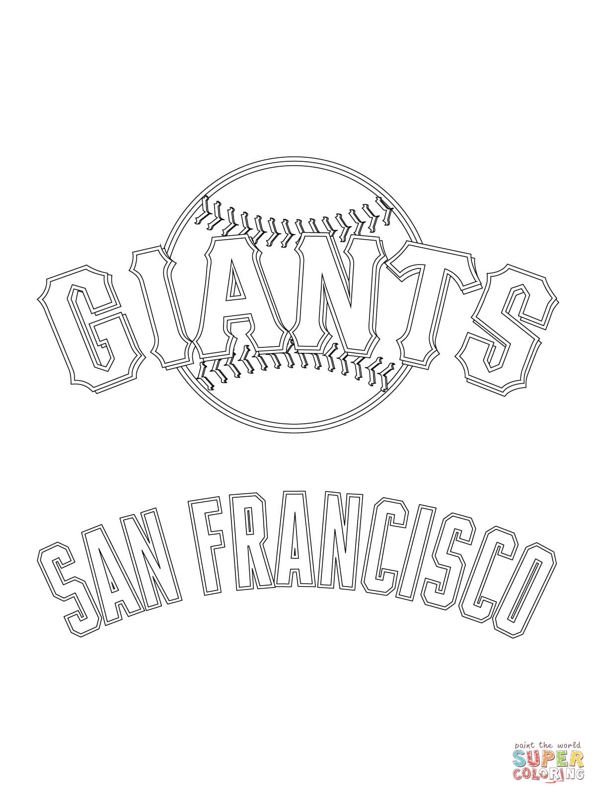 San Francisco Giants Logo Coloring Page