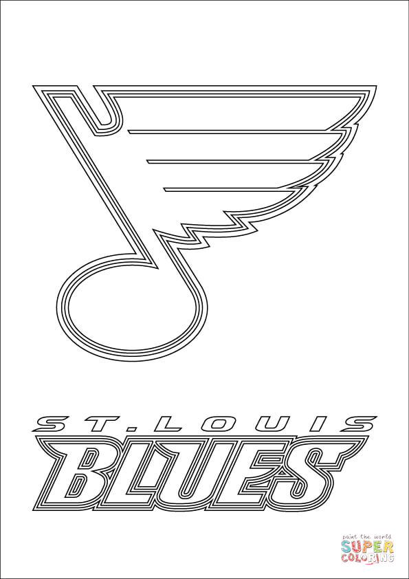 st louis blues logo coloring page free printable coloring pages