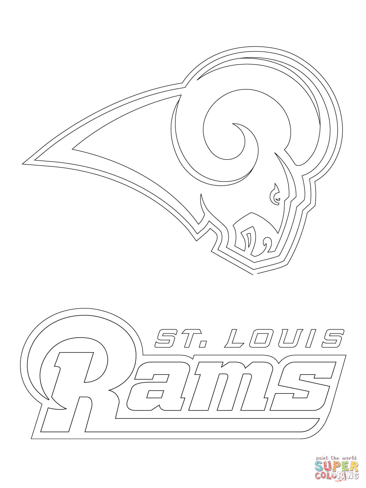 St Louis Rams Logo Coloring Page