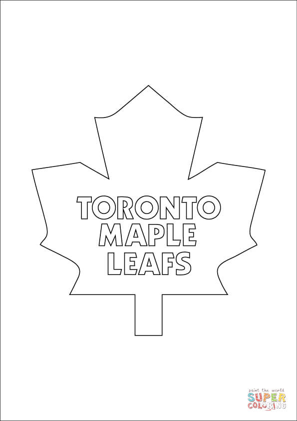 Fine Toronto Maple Leafs Coloring Pages Elaboration Coloring Page