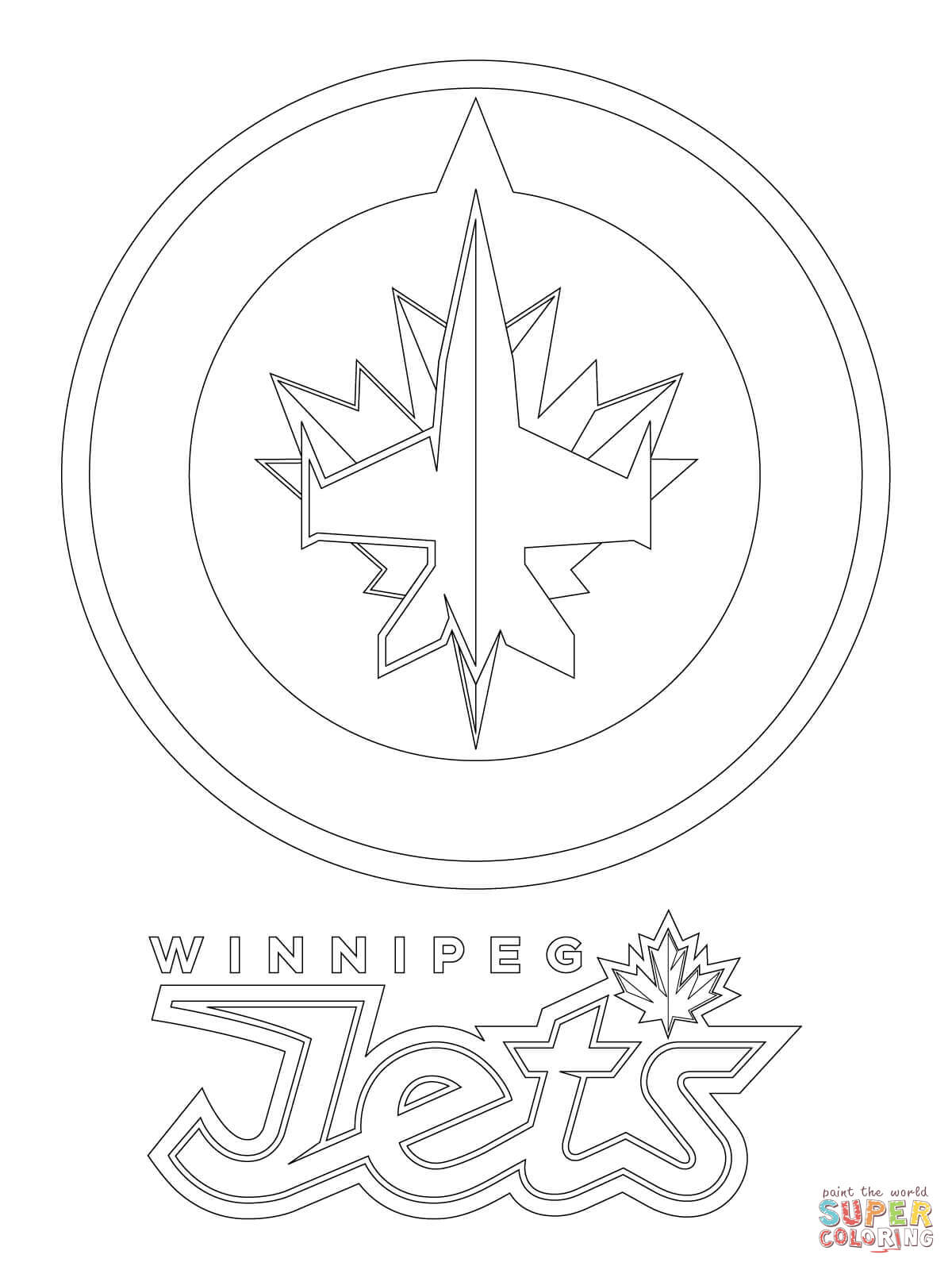 winnipeg jets logo coloring page free printable coloring pages