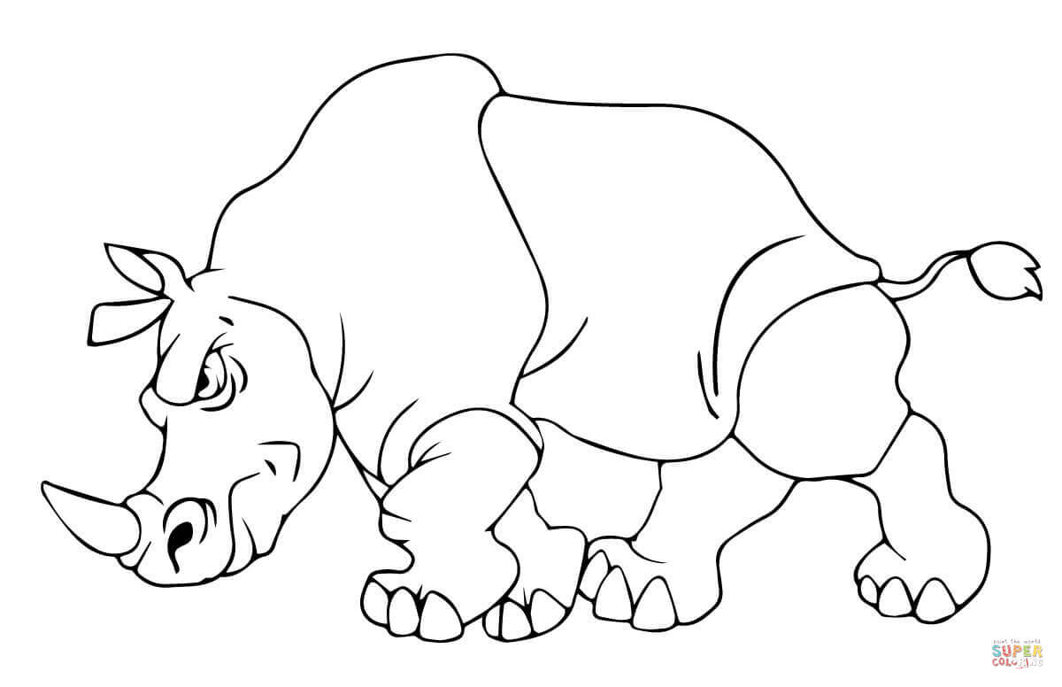 Woolly Rhino Coloring Pages Coloring Pages