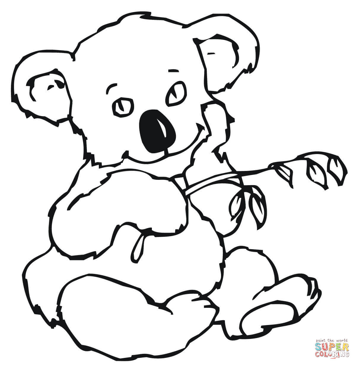Australian Animals Coloring Pages Printable Coloring Pages