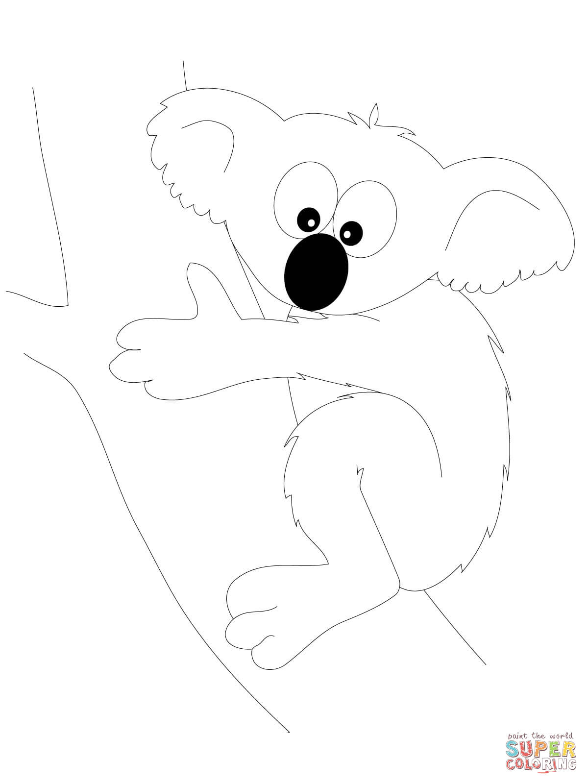 koalas coloring pages free coloring pages
