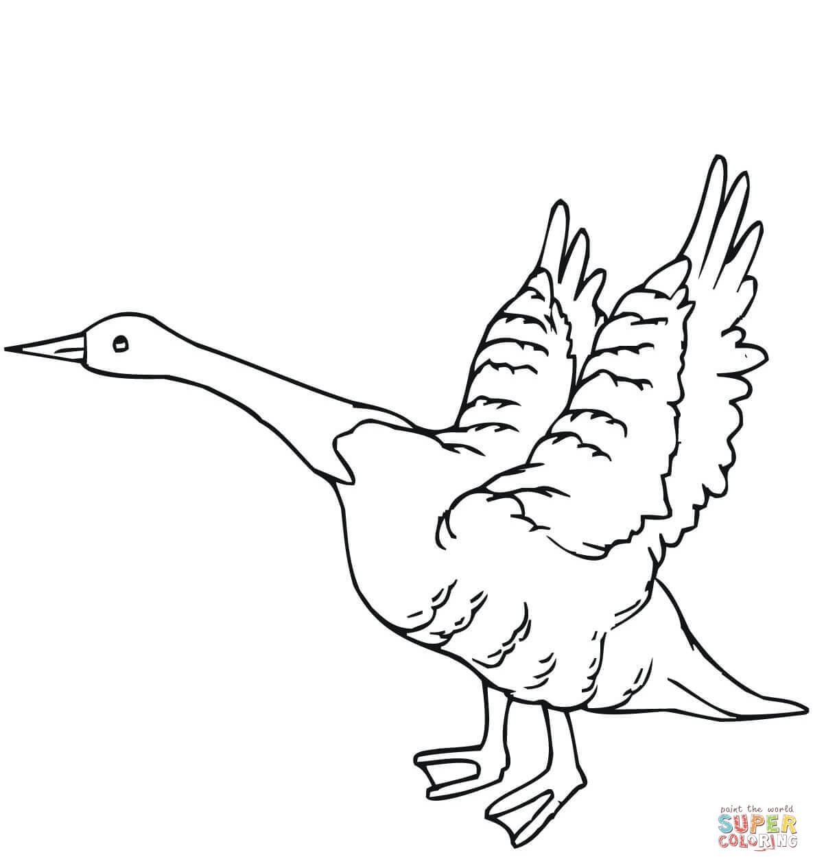 Image Result For Flying Geese Coloring Page Kids