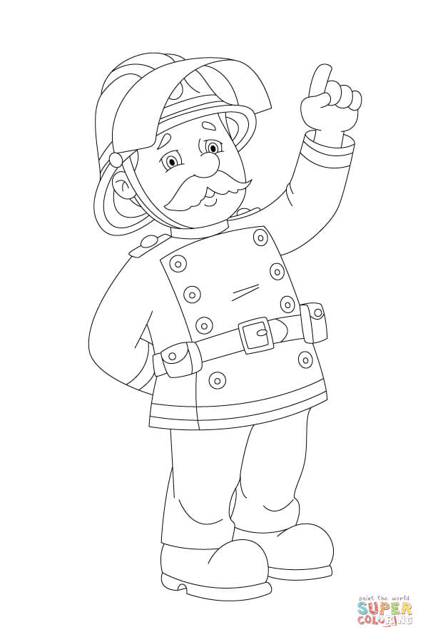 Station Officer Steele Feels Commanding Coloring Page