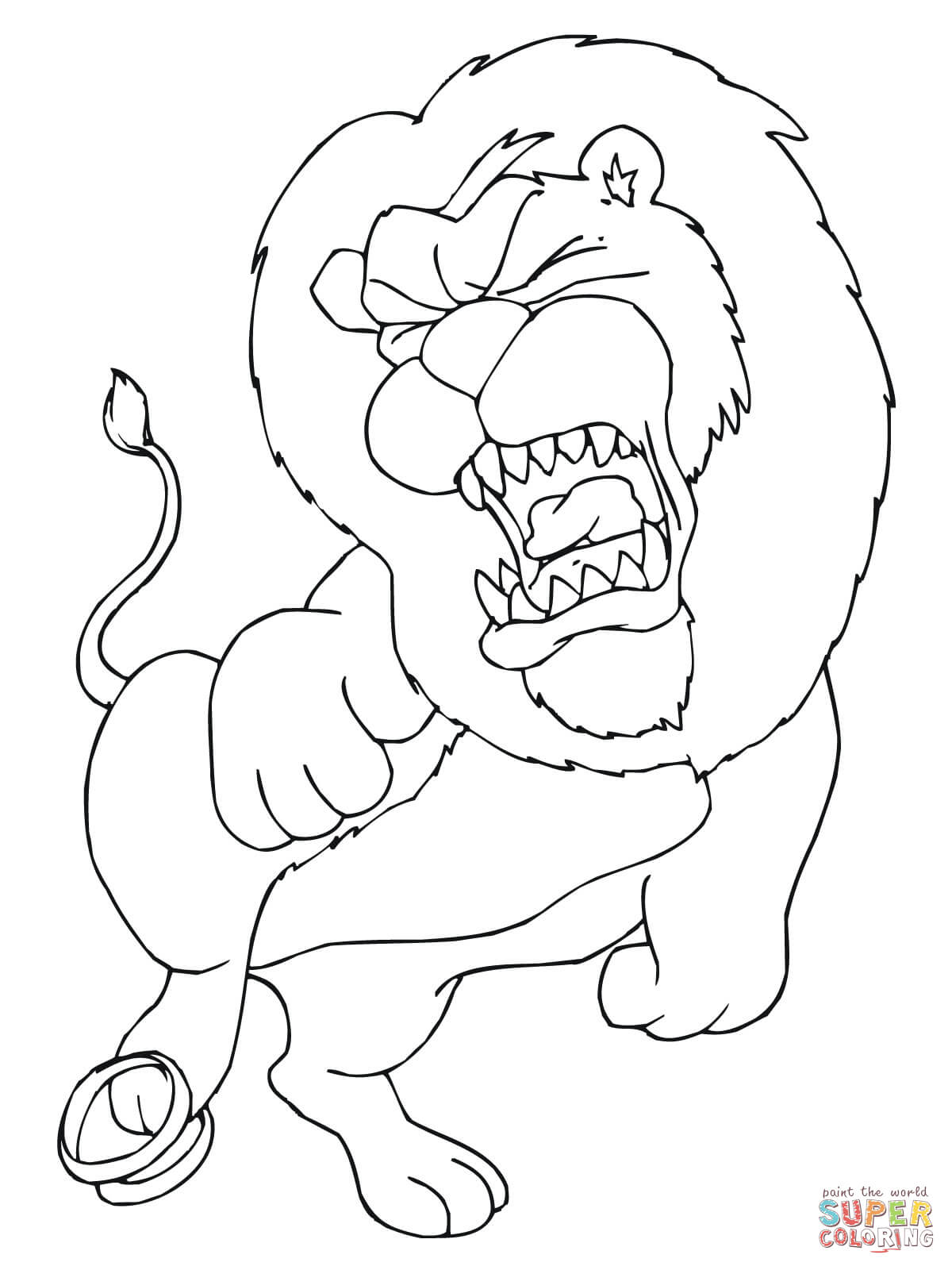 lions coloring pages free coloring pages