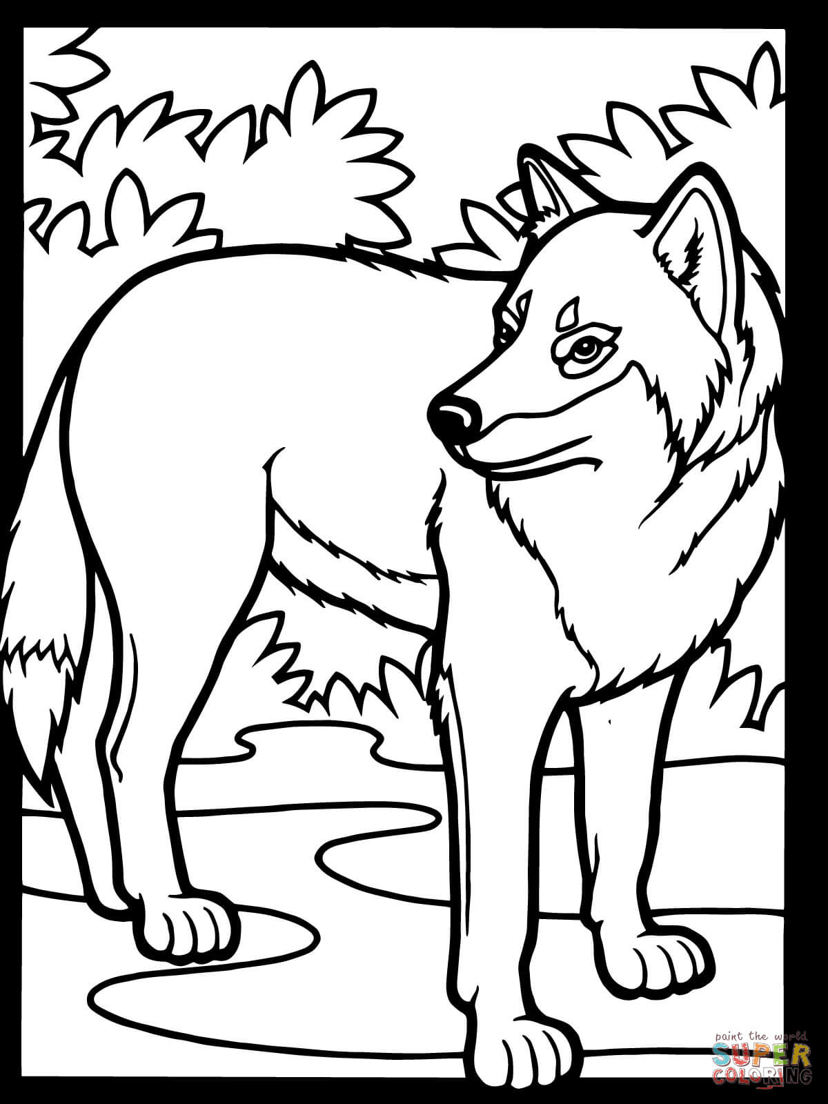 wolf coloring pages free coloring pages