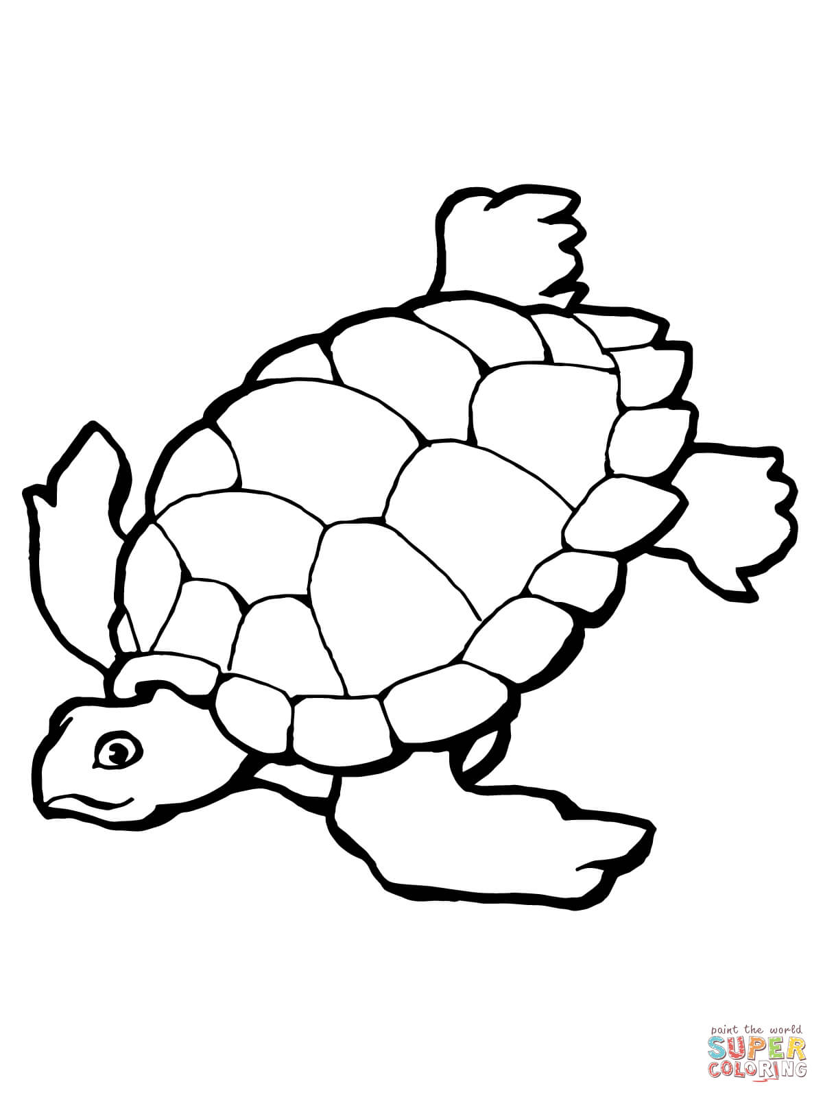 Swimming Sea Turtle Coloring Page