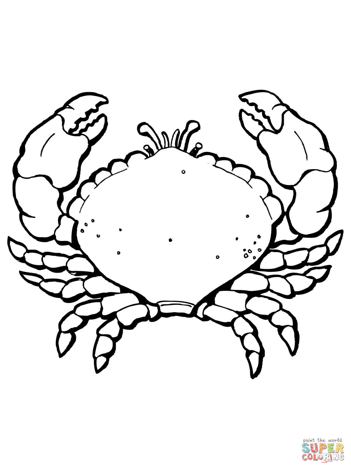 crabs coloring pages free coloring pages