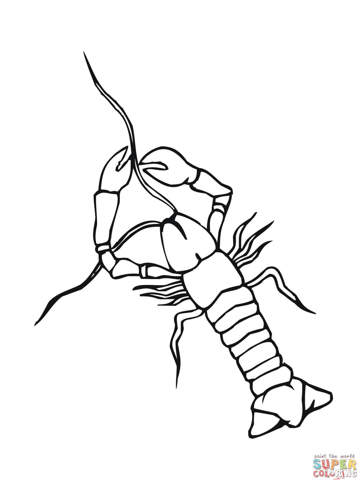 Crayfish Crowfish Coloring Page