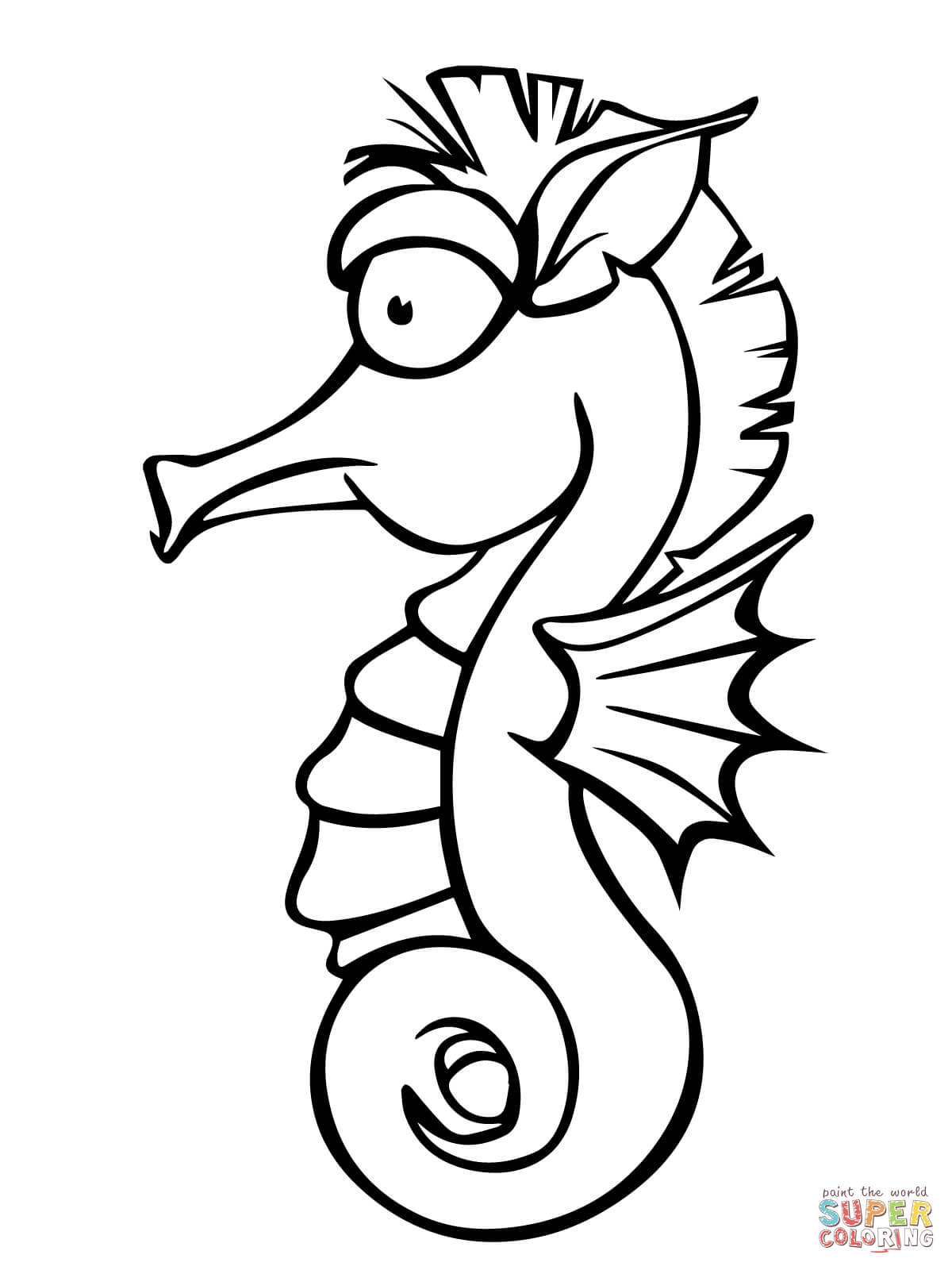 seahorse coloring pages free coloring pages