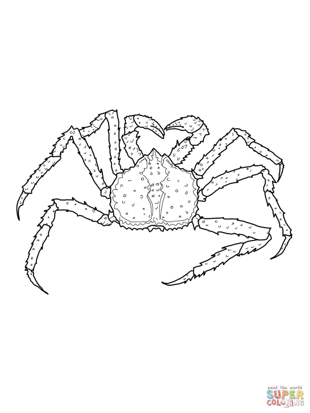 king crab coloring page free printable coloring pages