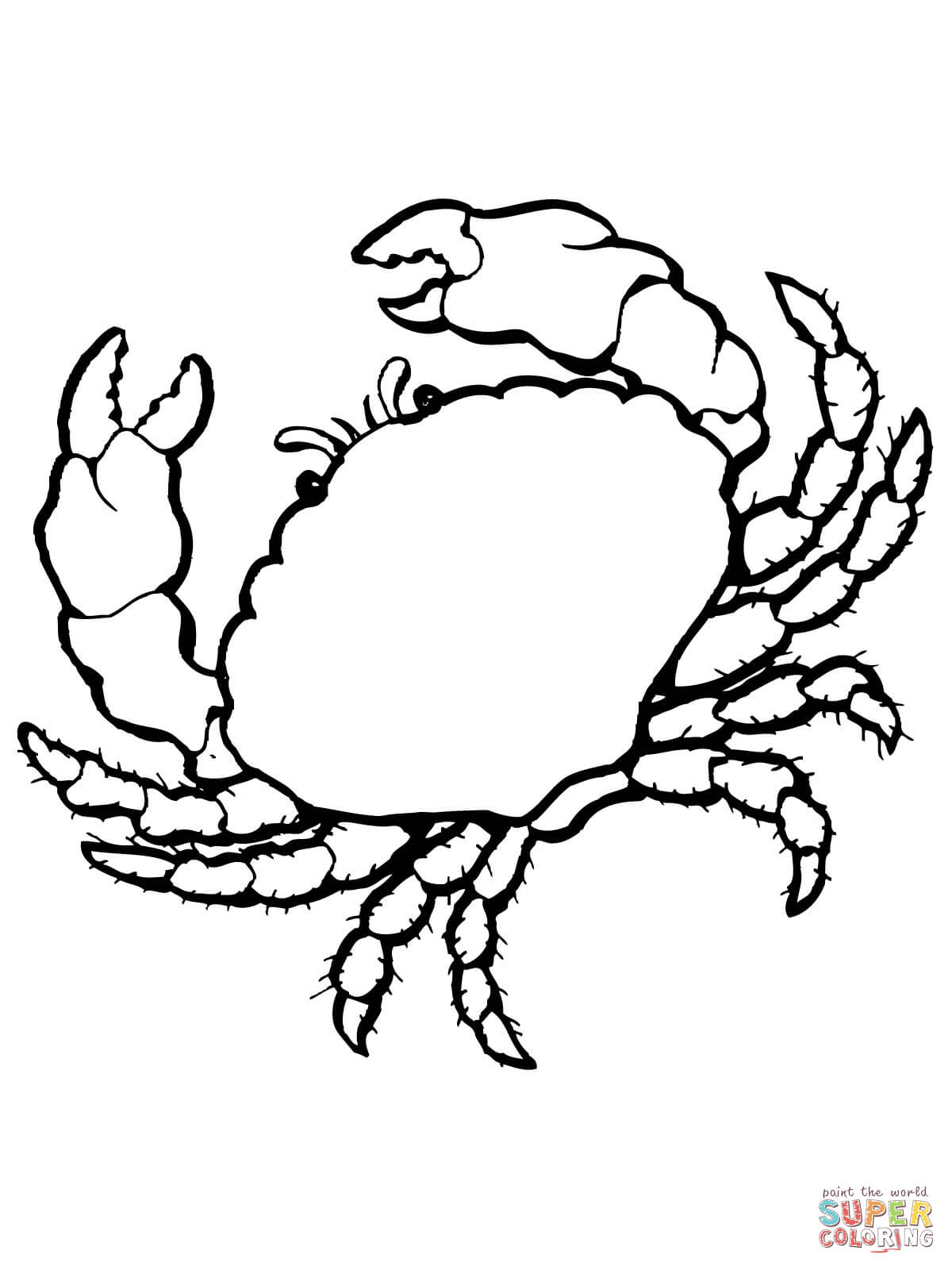 sea crab coloring page free printable coloring pages