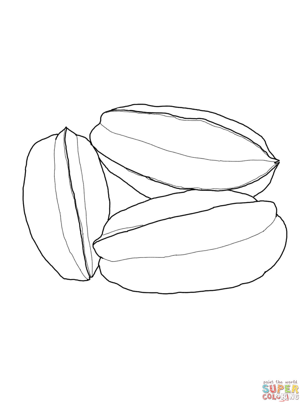Star Fruit Coloring Page