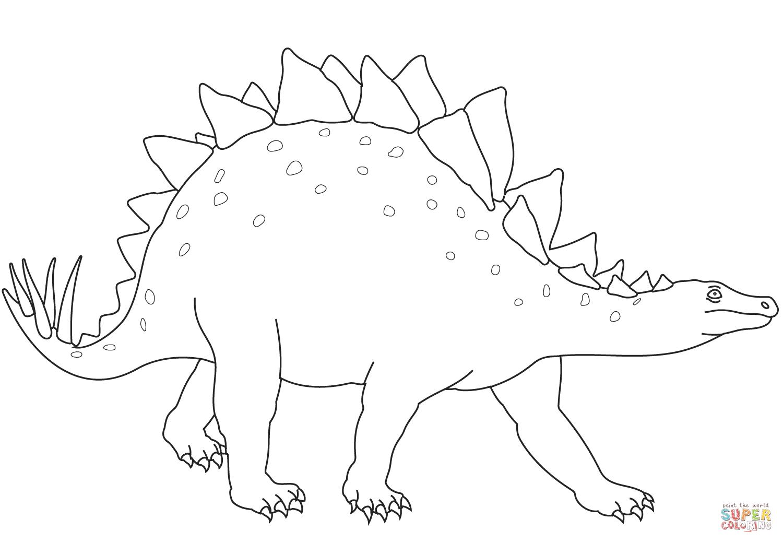 Kolorowanka Dinozaur Stegozaur