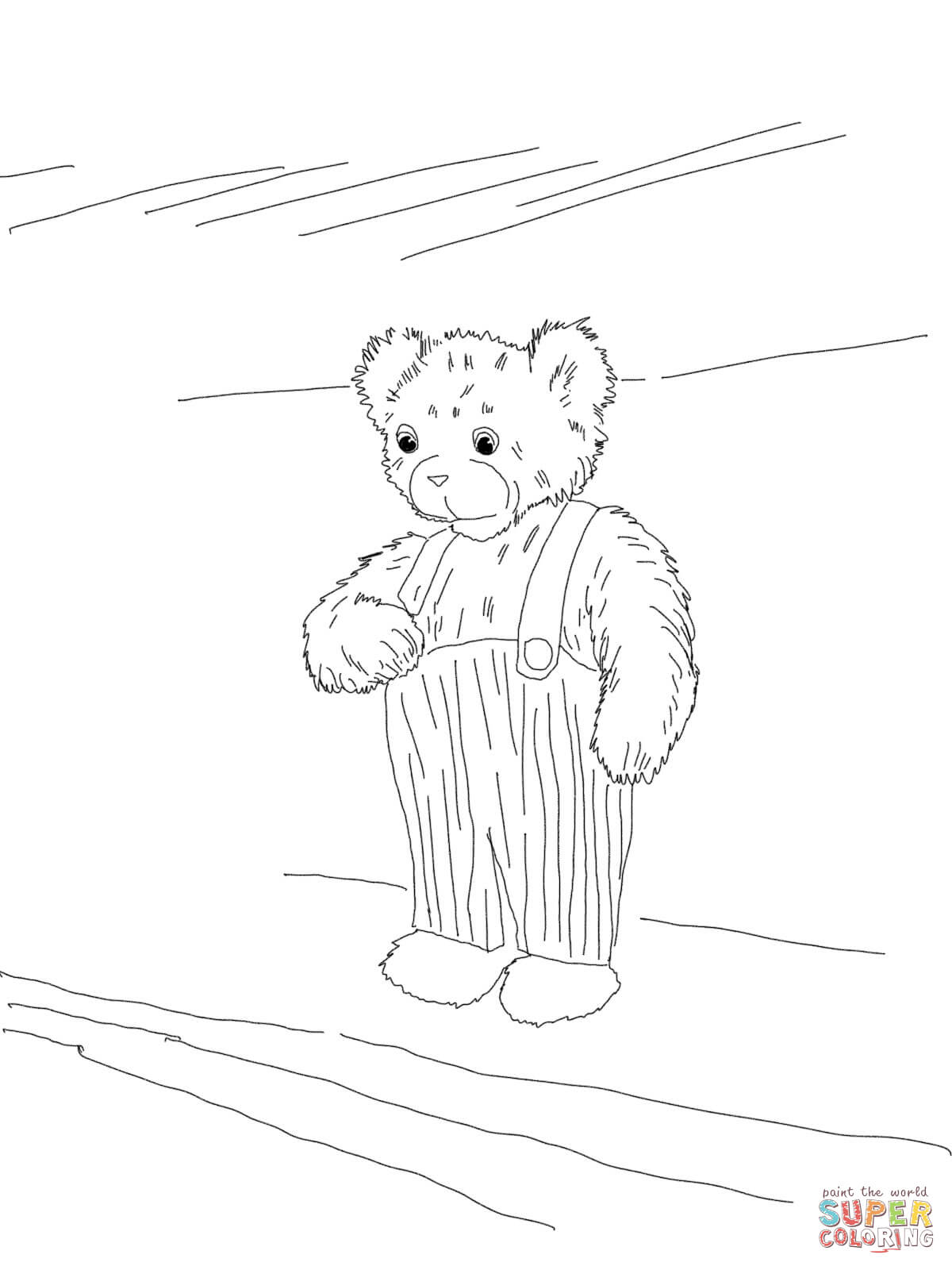 Corduroy Bear Coloring Page