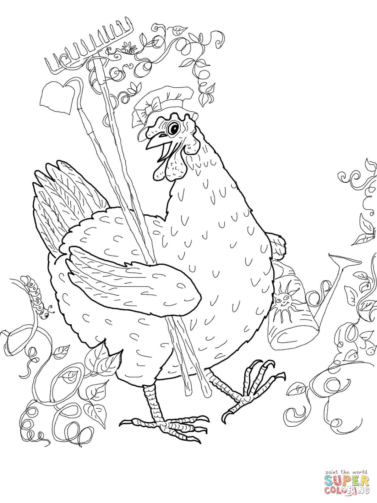 Little Red Hen Coloring Page