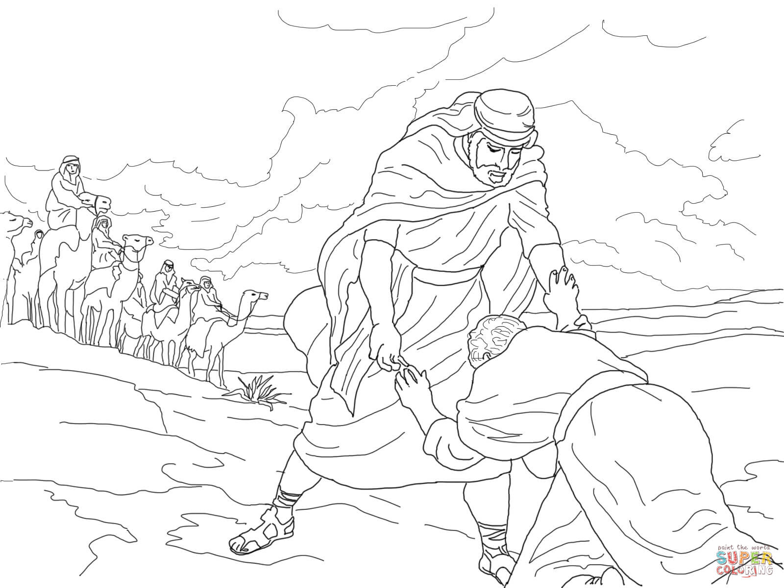 Jacob Esau Printable Coloring Pages