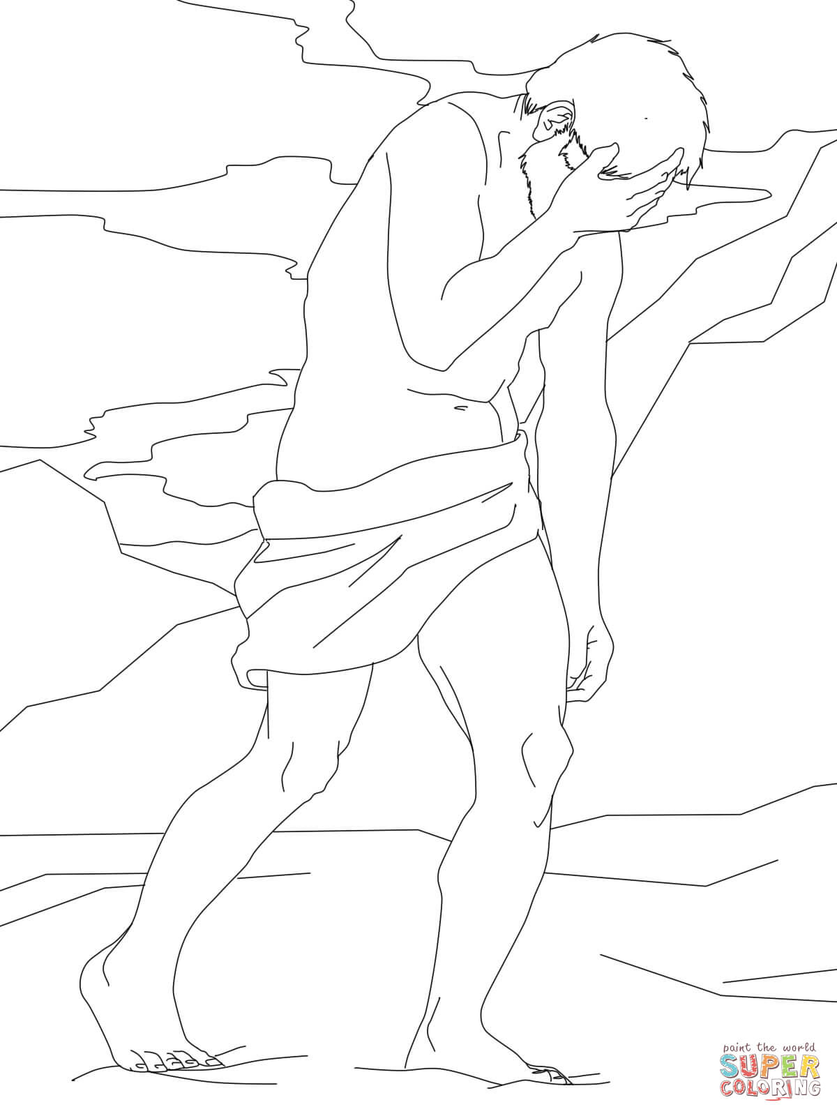 Cain Wrestler Coloring Pages Coloring Pages