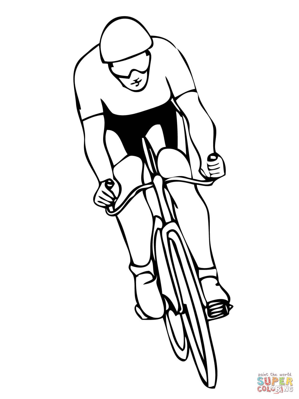 Disegno Di Lo Sport Del Ciclismo Da Colorare